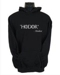 Hodor Men's Hoodie - Black (Small) - Cover