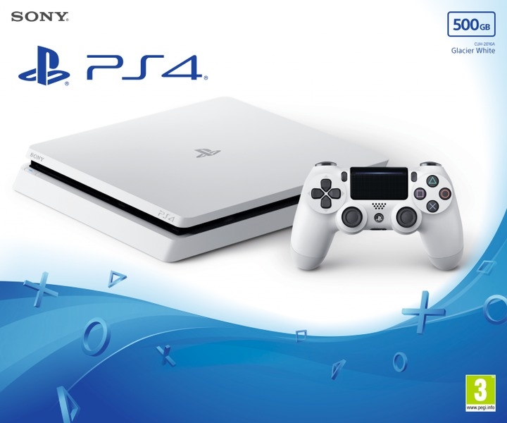 Sony PlayStation 4 Slim 500GB Console + PSN 90 Days - Glacier White (Open  Box Item - In Working Order)
