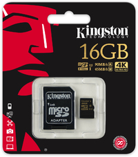 Kingston Technology - Gold Series 16GB microSD UHS-I Speed Class 3 (U3) Memory Card