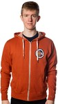 Echo Fox - Seal Mens Burnt Orange Zip-up Hoodie (XX-Large)