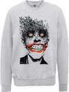DC Comics Batman Joker Face of Bats Mens Sweatshirt (Large)