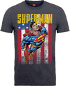 DC Superman US Flight Mens Dark Heather T-Shirt (X-Large)