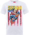 DC Superman US Flight Mens White T-Shirt (X-Large)