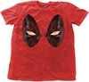 Deadpool - Eyes Mens Snow Wash Red T-Shirt (X-Large)
