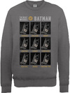 The Many Moods of Batman Mens Dark Heather Sweatshirt (Large)