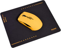 Port Designs - Wireless USB Mouse - Orange + Mouse Pad (NEON Series) - Cover