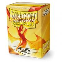 Dragon Shield - Standard Sleeves - Matte Yellow (100 Sleeves)
