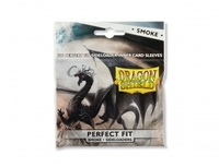 Dragon Shield Standard Perfect Fit Sideloading Sleeves - Clear/Smoke (100 Sleeves) - Cover