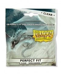 Dragon Shield Standard Perfect Fit Sideloading Sleeves - Clear/Clear (100 Sleeves) - Cover