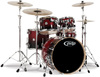 PDP Concept Birch 5 Piece Drum Kit (Cherry to Black Fade)