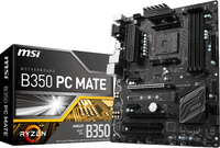 MSI B350 PC Mate AMD Socket AM4 ATX Motherboard (RYZEN)