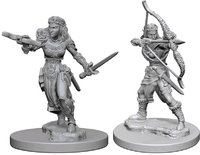 Dungeons & Dragons: Nolzur's Marvelous Unpainted Miniatures - Elf Female Rangers - Cover