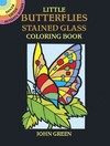Little Butterflies Stained Glass Colouring Book - John Green (Paperback)