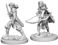Pathfinder Battles: Deep Cuts Unpainted Miniatures - Human Female Fighters - Cover