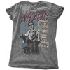 AC/DC - DDDDC Vintage Ladies Snow Wash Charcoal T-Shirt (Medium)