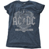 AC/DC - Black Ice Ladies Snow Wash Denim T-Shirt (Large)