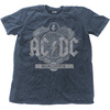 AC/DC - Black Ice Mens Snow Wash Denim T-Shirt (Small)