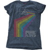 Pink Floyd - Prism Arch Ladies Snow Wash Denim T-Shirt (XX-Large)