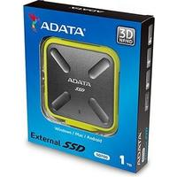 ADATA SD700 1TB Micro-USB B 3.0 (3.1 Gen 1) Durable External Solid State Drive - Black/Yellow