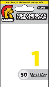 Legion Clear Boardgame Mini-American Sleeves (50) - Cover