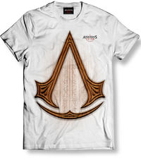 Assassin's Creed - Carved Icon White T-Shirt (Large) - Cover