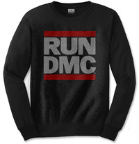 Run DMC - Logo Mens Black Long Sleeve Shirt (Large) - Cover