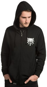 The Witcher 3 Steel and Silver Mens Zip-up Hoodie (Medium) - Cover