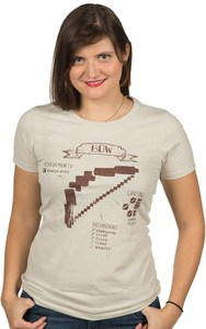 Minecraft Bow Diagram Women's T-Shirt (Small) - Cover