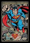 Superman - Comic Montage (Framed Poster)