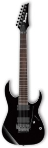 Ibanez RGIR27E-BK Iron Label 7 String Electric Guitar (Black) - Cover
