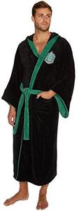 Harry Potter - Slytherin Fleece Bathrobe Oversized Hood and Sleeves (Black) - Cover