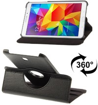 Tuff-Luv Rotating Leather Case Cover for Samsung Galaxy Tab S2 8.0 - T815 - Black - Cover