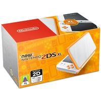 New Nintendo 2DS XL Console - White + Orange