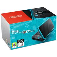 New Nintendo 2DS XL Console - Black + Turquoise