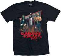 Guardians of the Galaxy Eighties Mens Black T-Shirt (Medium) - Cover