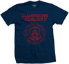 Guardians of the Galaxy Seal Mens Navy T-Shirt (Small)