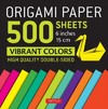 Origami Paper 500 Sheets Vibrant Colors 6 in - Tuttle Publishing (Unbound)