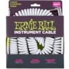 Ernie Ball 6045 Ultraflex 10 Metre Coiled Instrument Cable (White)