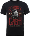 Johnny Cash Man In Black Mens Black T-Shirt (Large)