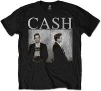 Johnny Cash Mug Shot Mens Black T-Shirt (X-Large) - Cover