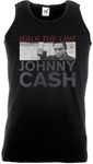 Johnny Cash Studio Shot Black Mens Vest (X-Large)