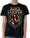 Alice Cooper Snake Skin Mens Black T-Shirt (X-Large)