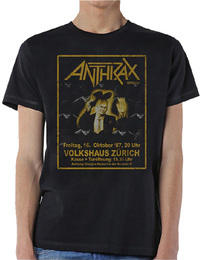 Anthrax Among the Living New Mens Black T-Shirt (Small) - Cover