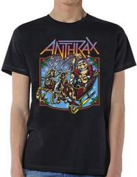 Anthrax Christmas Is Coming Mens Black T-Shirt (Small) - Cover
