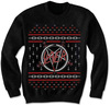 Slayer Pentagram Holiday Mens Black Sweatshirt (Small)
