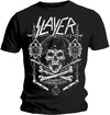Slayer Skull & Bones Revised Mens Black T-Shirt (X-Large)