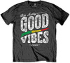 Bob Marley Good Vibes Mens Charcoal T-Shirt (Large)