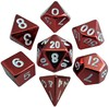 Metallic Dice Games - 7-Set: 16mm Red Painted Metal Dice
