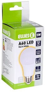 Ellies - Lamp For Life A60 LED 5w 410lm 3000k E27 (Warm White) - Cover