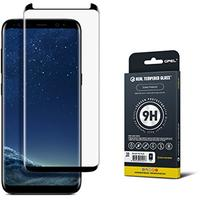 Galaxy S8 Plus Screen Protector [GS8 Plus] [Case Friendly] Tempered Glass, 100% Satisfaction Guarantee, Premium Japanese Asahi Glass - (Black) (Wireless Phone Accessory)